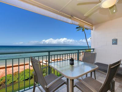 Photo for Makani Sands #206 1brmBeachfront condo with balcony on the ocean
