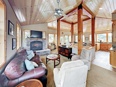 Photo for 4BR Treehouse by the Sea - Hot Tub, Big Deck - 1 Block to  Beach!