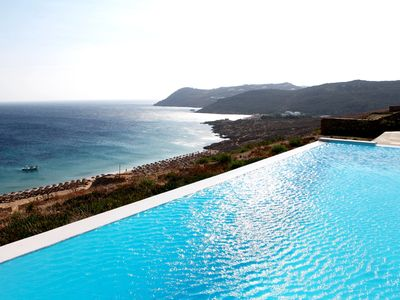 Photo for Minimal Villa Blanco Mykonos, 5 bedrooms 6 Bathrooms with private pool, Up to 11 Guests. The pool area easily holds events to 150 person !!
