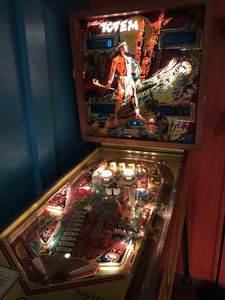 """Go """"old school"""", enjoy this vintage Pinball game! Even better no quarters needed"""