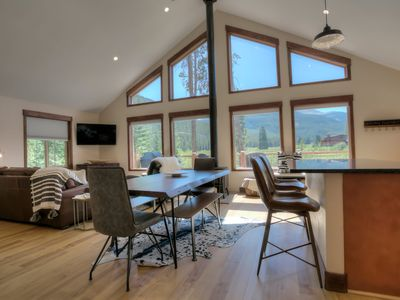 Photo for New Modern Cabin w/AMAZING VIEWS, hot tub, private pond, & super close to town