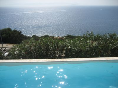 View of sea from pool