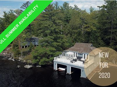 Photo for Amazing 4Bed 4Bath Cottage on Lake Muskoka! Very Private! Kayak!