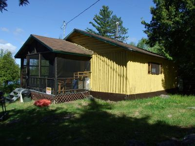 "Photo for 2 Bedroom ""A Frame"" Log Cottage in Beautiful Marten River, ON - Olive the Lake Cottage #5"