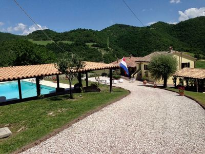 Photo for Beautiful apartment in the mountains with private pool
