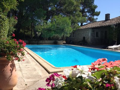 Photo for Provencal house with swimming pool in the heart of Eygalieres village