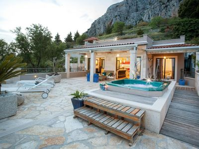 Photo for ctma212 - Villa with pool, beautiful sea view (south side) and a breathtaking view of the mountain  Biokovo s