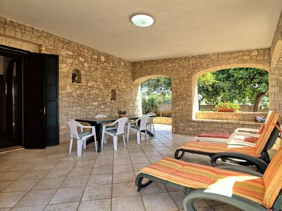 Photo for Pisinè  apartment in Marina San Gregorio with air conditioning, private parking, private terrace, p…