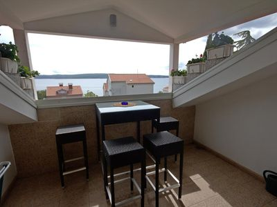 Photo for Studio flat with terrace and sea view Selce (Crikvenica)
