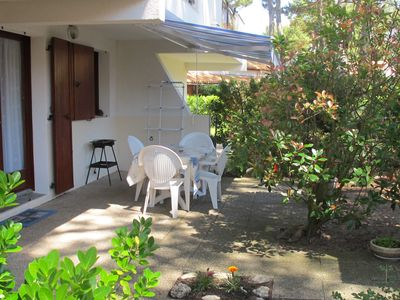 Photo for comfortable apartment in ground garden in residence LA PALMYRE