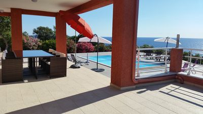 Photo for Solenzara.  Villa with pool 250 m from the sea (5 to 10 people)