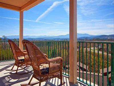 Enjoy the beautiful weather and mountain view from your very own balcony!