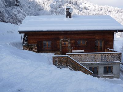 Photo for Savoyard chalet in the Mont Blanc area