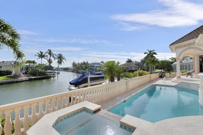 The house has a private pool and spa with beautiful waterviews.