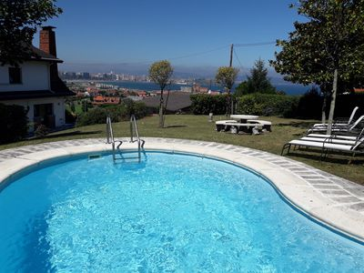 Photo for Villa with pool, barbecue, fantastic views, free wifi and close to the beach.