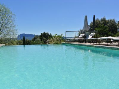 Photo for Large cottage in restored Provencal farmhouse, pool, tennis, volleyball, gardens