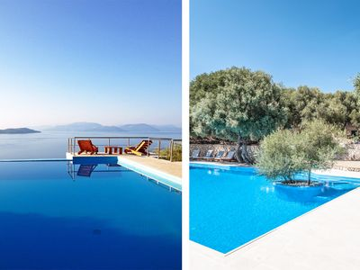 Photo for Villa Coin de Paradis - Breathtaking 360° View on Ionian Islands