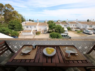 Photo for 2 bedrooms character house with sea view, less then 30s to the beach.
