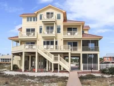 Photo for Beachfront.  POOL!  7 Bedrooms, 7.5 bathrooms  Beautifully Decorated