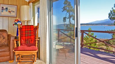 Photo for Big Bear's Most Unique Location! Amazing View, Wood Fireplace, Backs To Mountain