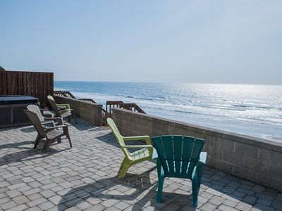 Photo for Beautiful luxury ocean front house with direct beach access and a hot tub!