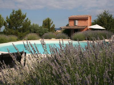 Photo for Authentic provencal cabanon exceptional site with pool and jacuzzi