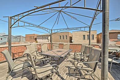 Soak up the sun on the rooftop patio!