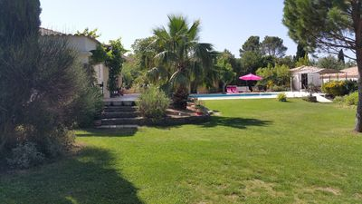 Photo for Traditional villa with pool on large landscaped with trees in collline
