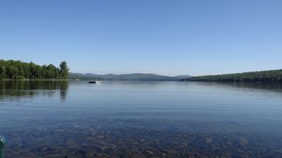 Photo for Lakefront Cottage on deep, clean Embden Pond with sandy beach access.