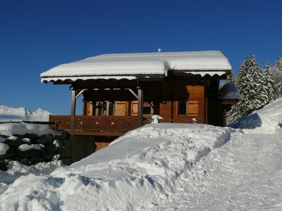 Photo for Typical chalet very relaxing, stunning views, complimentary high speed Internet WIFI