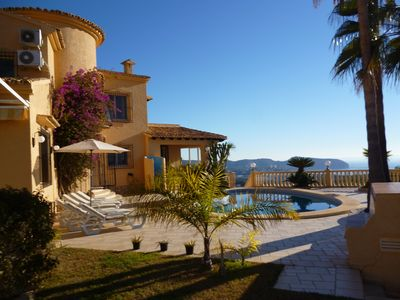 Photo for A truly stunning villa with breathtaking panoramic views of the Moraira and Calp