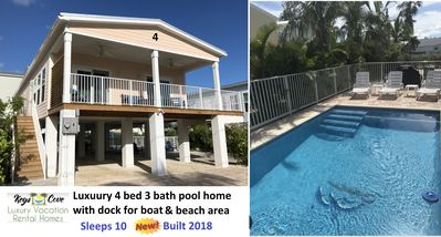 Photo for 4 BED 3 BATH  PERSONAL H/C POOL, FREE DOCK SPACE RIGHT HERE!!!! SLEEPS 10