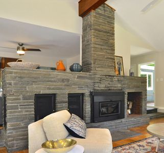 Photo for MOUNTAIN MOD Just Renovated, Sleeps 10, 1 Mi to Town, Heated Pool, Fireplace