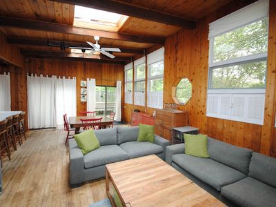 Photo for NEW LISTING! Dog-friendly home w/ high ceilings & lots of light, spacious deck!