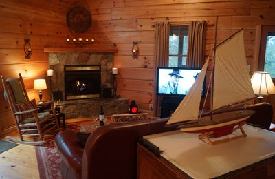 Secluded Mtn Log Cabin with 100' Waterfall, Pond, and Streams