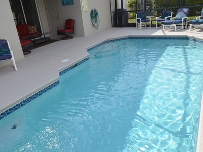 Photo for Steps to Disney, Luxury Pool Home, 2 Master Suites, Gated, Game Rm,Free WIFI,BBQ