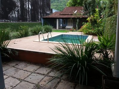 Photo for Beach house with pool and very green
