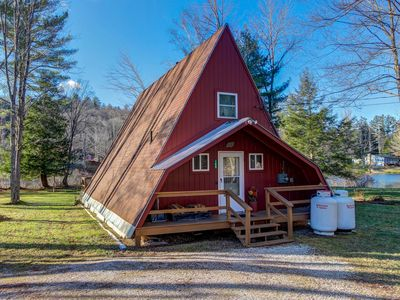 Photo for Classic lakefront A-frame on Lake Pauline. Okemo Mtn Resort only 2 miles away!
