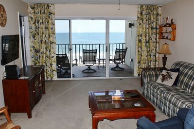Living room with great views and easy access to balcony.