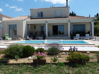 Photo for Dream holiday at sweet prices in villa + pool with stunning views