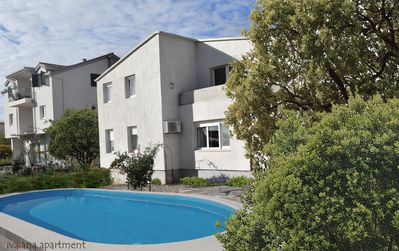 Photo for Iv-ana apartment, swimming pool, sea wiew, separate entrance, separate yard,