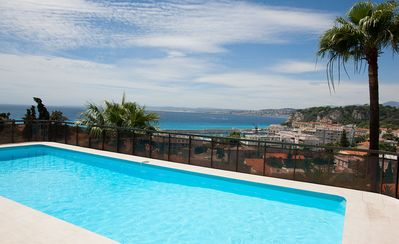Photo for Apartment with a swimming pool and a beautiful view of the sea, city & mountain.