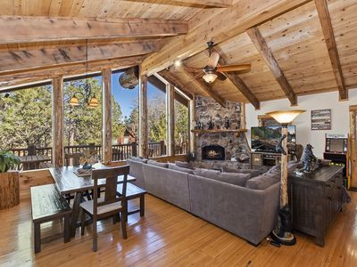 Photo for Angels Camp: Luxury Log Style Home in High Timber Ranch Estates! 1 Block from National Forest!