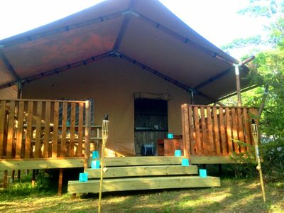 Photo for Canvas Lodge in the heart of nature on the Route Napoléon
