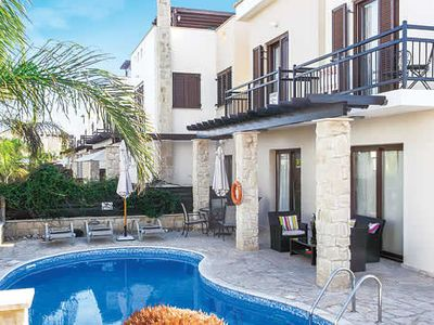 Photo for Family villa close to beach w/ private pool, BBQ, free A/C & free Wi-Fi