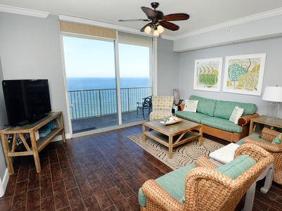 Photo for Gorgeous coastal condo! Gulf-front views! Fitness center on-site! Free beach service!