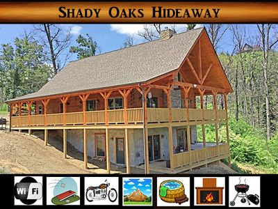 Photo for Shady Oaks Hideaway - ITS BACK from the Ashes / Great View / Hot Tub / WiFi / Corm Hole