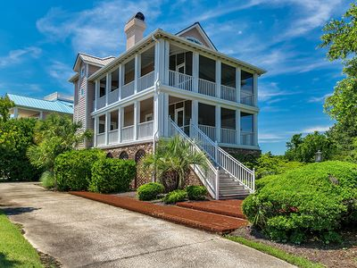 Photo for BeachHouse Paradisewith Screened Porches, decks, library, and wifi
