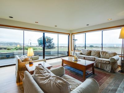 Photo for Dog-friendly oceanfront home w/private hot tub, shared pool, views from deck