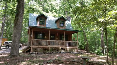 Photo for FALCONS NEST - MURPHY, NC - SWEET CABIN IN THE WOODS!